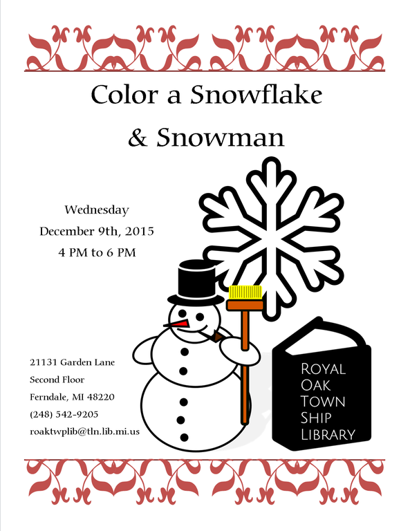 Color a Snowflake and Snowman.png
