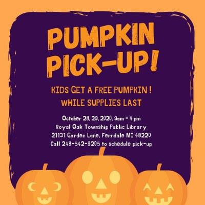 Pumpkin Pick-Up!
